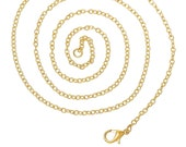 12pcs 30 Inch Gold Plated Necklace Chain - Necklace Wholesale Lot Bulk Chain - 3mm x 2mm - Bulk Lot Gold Plated Wholesale Chains Findings