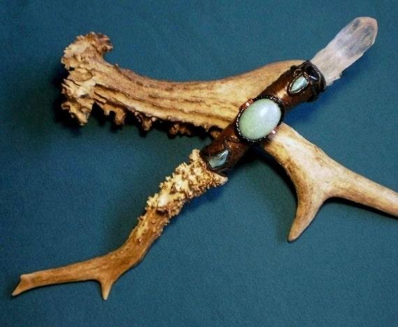 RESERVED - Spirit of Peyote - Birch and amazonite wand.