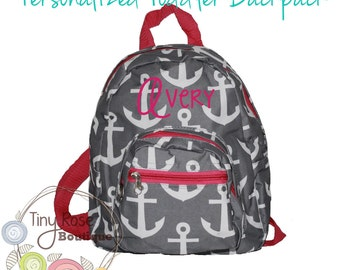 Toddler Girl Backpack - Anchor Booksack - Personalized School Bag, Book Bag, Mini Backpack