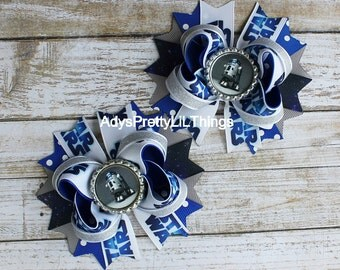 Girls Star Wars Inspired Bows Pig Tail Bows R2D2 Bow Bottle Cap Bows Piggy Bows Boutique Bows Layered Bows Baby Girls Hair Accessories