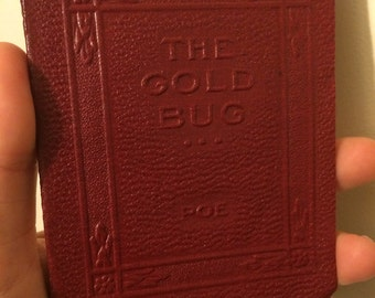 Salvage - THE GOLD BUG by Edgar Allen Poe - Miniature Book Little Leather Library 1920s Antique Vintage