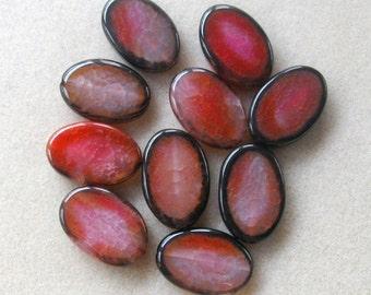 Red Black Agate, Oval Pendant, Gemstone Pendants, Agate Gemstones, Jewelry Making Beads, Focal Beads, Pendant Beads, Agate Pendants, (1)