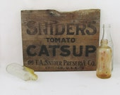 Snider's Catsup Wooden Crate Panel - Advertising - Sign