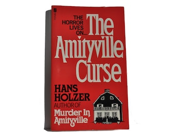 Vintage Paperback. 1981. The Amityville Curse, by Hans Holzer - Horror. Futura Book. Red. White. Black.