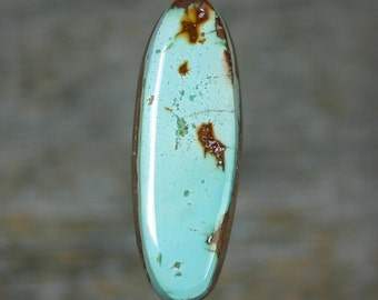 Turquoise cabochon  Dry Creek mine,  A-121
