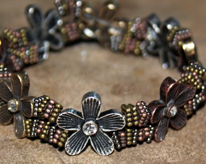 Metal Petals Bracelet