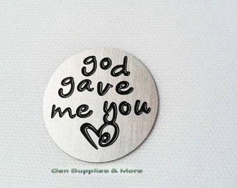God gave me you Floating Locket Plate, God plate, God gave me you plate, floating locket plate