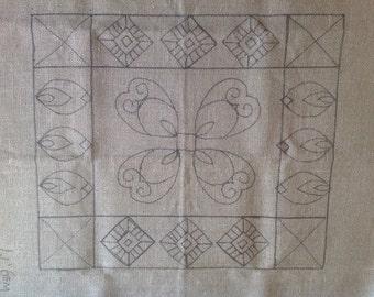 Pretty Little Hearts Pattern for Lil' Gems Footstool