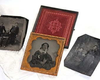 Collection of Antique Tin Types