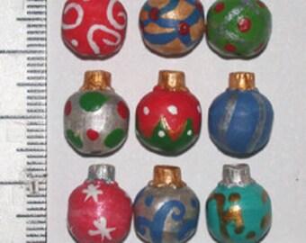 Ceramic Christmas Ornaments Joy/Peace