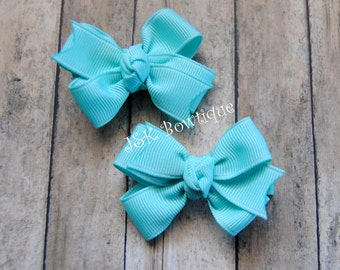 Pig-tail classic bow sets