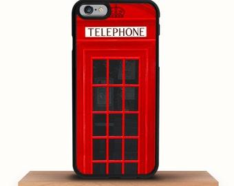 iPhone 7/7 Plus Case, iPhone 6/6S Plus Case, iPhone 6/6S Case, London Phone Box, iPhone 5/5S/5C Case - British Telephone Box iPhone Case