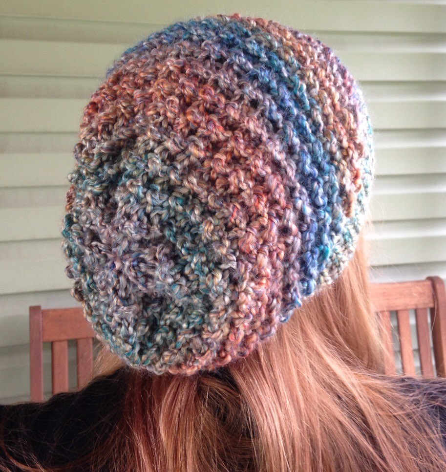 SLOUCHY BEANIE Autumn Day knit hat hippie boho winter