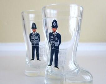 English Bobby Shot Glasses (2) - Mod Dep - Boot Shaped