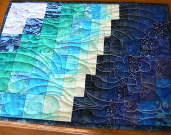 Surf Song Set of Four Placemats/MugRugs