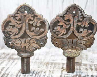 Pair of Vintage Metal Pieces for Altered Art projects