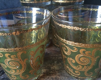 Vintage Culver Ltd Toledo Pattern Old Fashioned Glassware