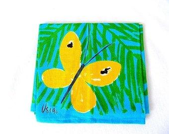 Vintage VERA Neumann Linen Towel with Butterflies