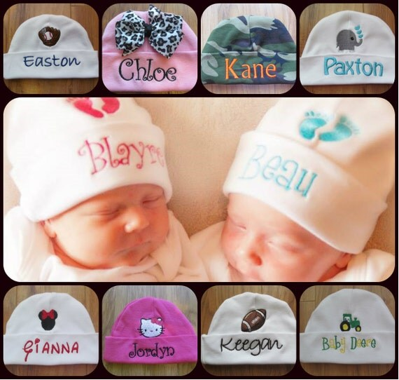 Personalized Baby Hat Monogram Baby Hat Custom Baby Hat Baby Beanie Baby Girl Gift Baby Boy Gift 80+ Designs to Choose From!
