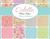 "ON SALE Colette Chez oi Moda Quilt Fabric Moda Charm Pack 42 squares 5"" x 5"""