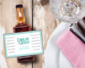 Custom Mini Bottle Labels Wedding Favors Thank You Rehearsal Dinner Reception Bridal Shower Party Favor Whiskey Bar Guest Gifts EB-1058