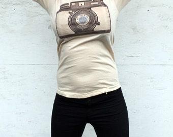 Camera Tshirt - retro,  pop, vintage camera - Bosley