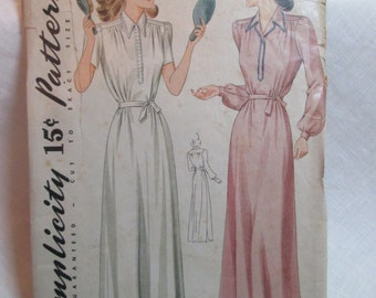 "Antique 1941 Simplicity Pattern #3828 - size 32"" Bust"