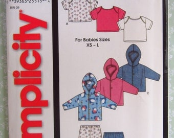 Easy to Sew Infants Jacket, Pants and Knit Top Sizes XS S M L It's So Easy Simplicity Pattern 7054 UNCUT