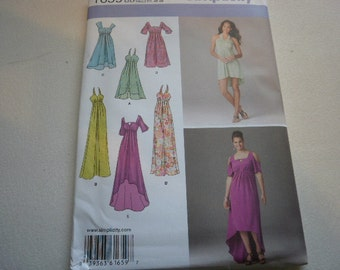Pattern Women Plus Size Dress 4 Styles Sizes 20W to 28W Simplicity 1659 A