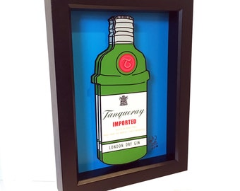 Tanqueray Print Tanqueray Gin Home Decor 3D Pop Art Liquor Bottle