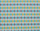 Lagoon Mini Harlequin Breeze for Michael Miller, 1/2 yard