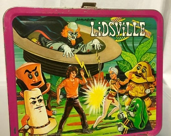 1971 Sid and Marty Kroft Lidsville  Aladdin industries metal lunch box lunchbox
