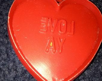 vintage Hallmark cards Love Ya Valentine conversation heart plastic cookie cutter
