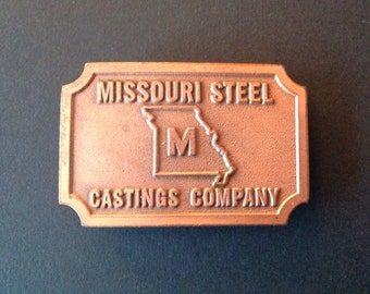 Vintage Cast Metal Belt Buckle Missouri Steel Castings Hit Line Vintage Hit Line Buckle  Industrial Workwear Vintage Fashion Accessories