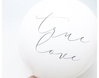Valentines Day | True Love Balloons | Anniversary | Wedding | Engagement | Party Supplies | Photo Props | Valentine |