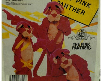 "Pink Panther Costume Pattern, Adult, Jumpsuit, Head, Hands, MGM, McCalls No. 946 / 2748 UNCUT Size Large (Chest 40-42"" 102-107cm)"