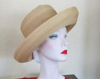 Vintage Hand Woven Summer Large Brim Wide Brim Curved Brim Summer Hat