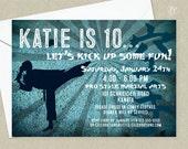 Girls Karate Birthday Party Invitation - Karate Birthday Invitation - Martial Arts Birthday Invitation