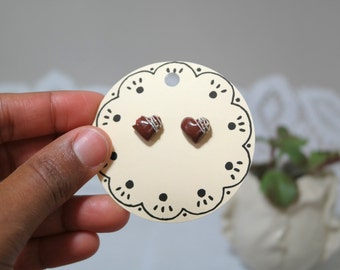 Chocolate Truffle Studs//Earrings