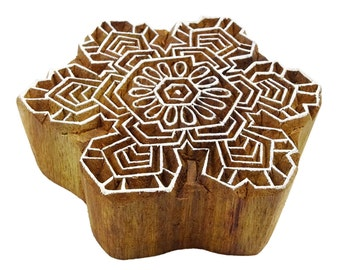 Indian Wooden Letterpress Craft Wood Art Printing Textile Stamps Wood Printing Block Stamp Fabric Boder Print Floral Block By 1Pcs PB3217A