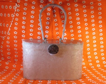 Marble Gray Lucite Purse