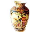 Vase and Vessels, ceramic vase, Collectible Porcelain,  Asian vase,Asian art, Gold Moriage, Poreclain Glass, Asian Decor,
