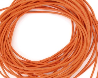 Leather-1.3mm Round Cord-Orange-Made in Germany-1 Meter