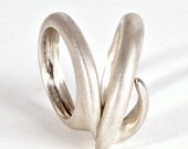 Combined Sterling Silver Ring , Designer Silver Ring , Unique Ring , Statement Ring , Combination Silver Rings ,  Three Rings in One