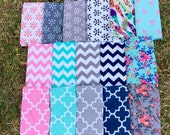 """Jersey Knit Light-Weight Swaddle/Receiving Blanket- Large 42""""x42"""" - YOU CHOOSE PRINT"""