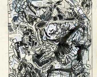 Original Preliminary Sketch by David Jablow 2016 Thumbnail Art Drawing A