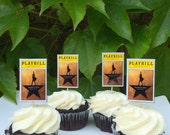Hamilton Broadway Party Cupcake Toppers - set of 12