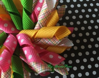 Pretty In Plaid Korker Hair Bow