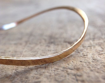 Saddle Bangle, Gold Wave Bracelet, 14K Gold Fill Bangle, Wave Jewelry, Gold Bangle, Wave Bangle, Gold Stacking Bangle, Boho Luxe Jewelry