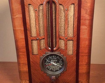 "ZENITH Model 5S-29 ""Black Dial"" Art Deco Radio (1935)"